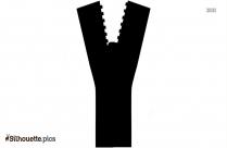 Zipper Opening Vector Silhouette Art