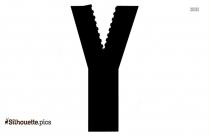 Zipper Silhouette Clip Art