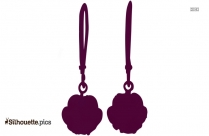 Chalcedony Earrings Silhouette