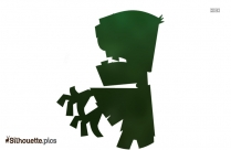 Zombie Cartoon Silhouette