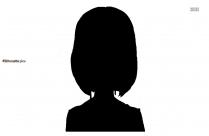 Zombie Girl Silhouette Clip Art