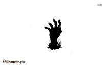 Zombie Hand Silhouette Black And White