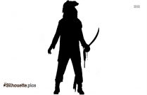 Zombie Pirate Outfit Silhouette