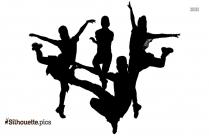 Zumba Dance Silhouette Background