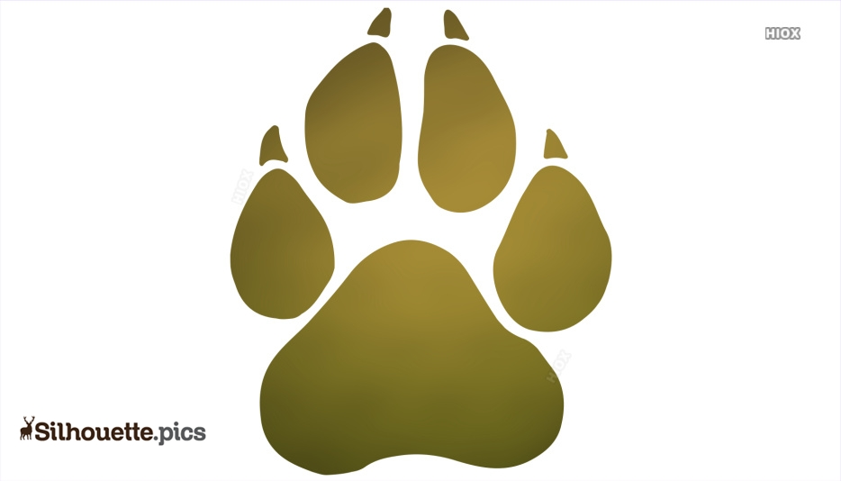Tiger Footprint Silhouette