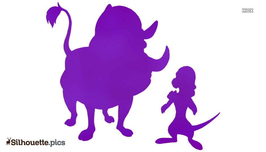 Timon And Pumbaa Silhouette Clipart