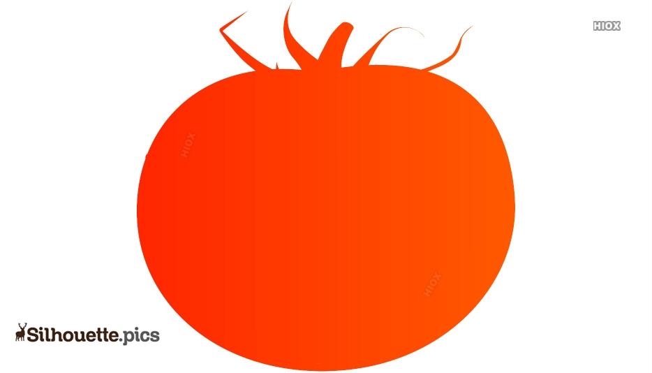 Tomato Silhouette Vector