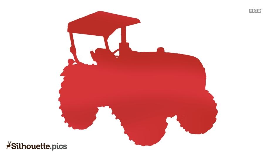 Tractor Wheels Silhouette Art