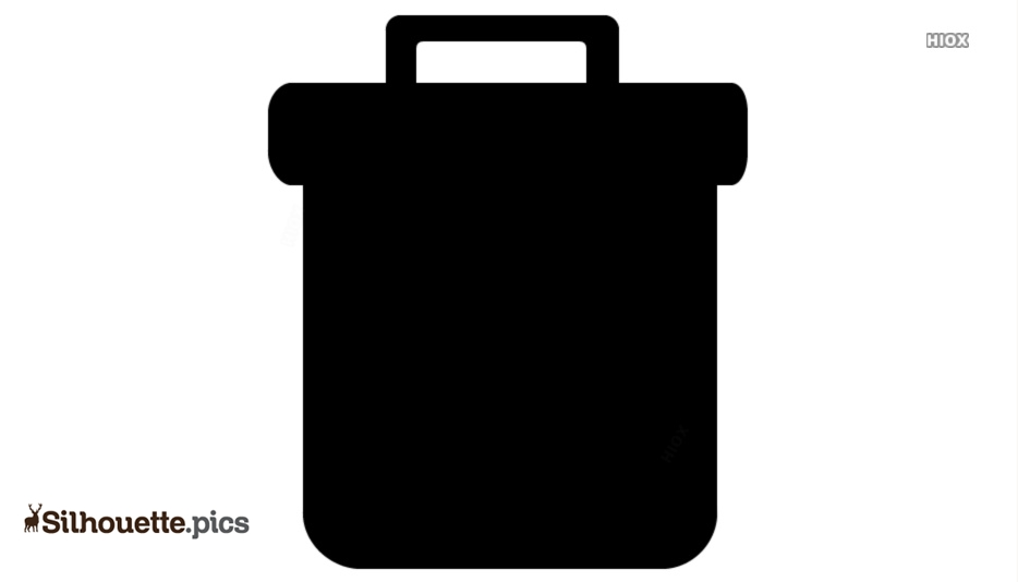 Trash Can Silhouette Vector And Graphics