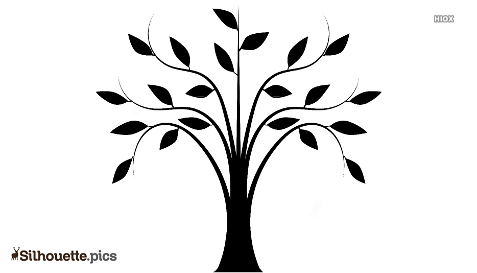 Tree Art Silhouette Image, Vector