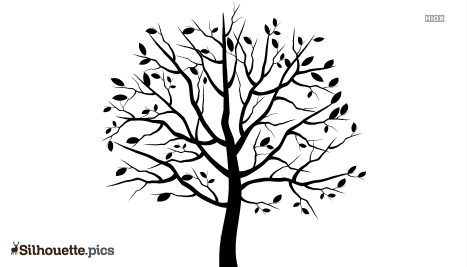 Tree Drawings Silhouette For Download