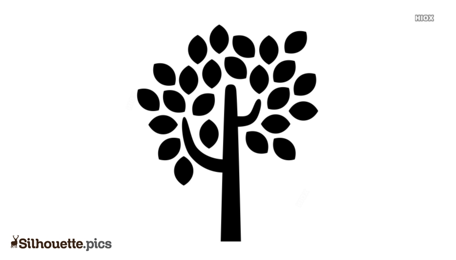 Tree Icon Silhouette Image And Vector