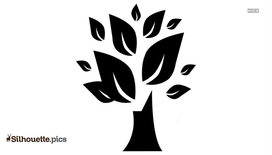 Tree Symbol Silhouette