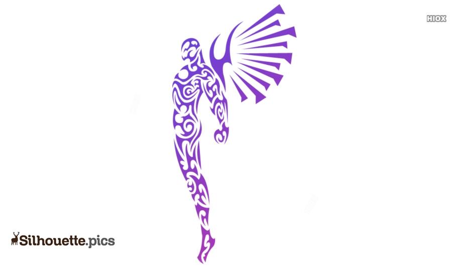 Tribal Angel Silhouette Image