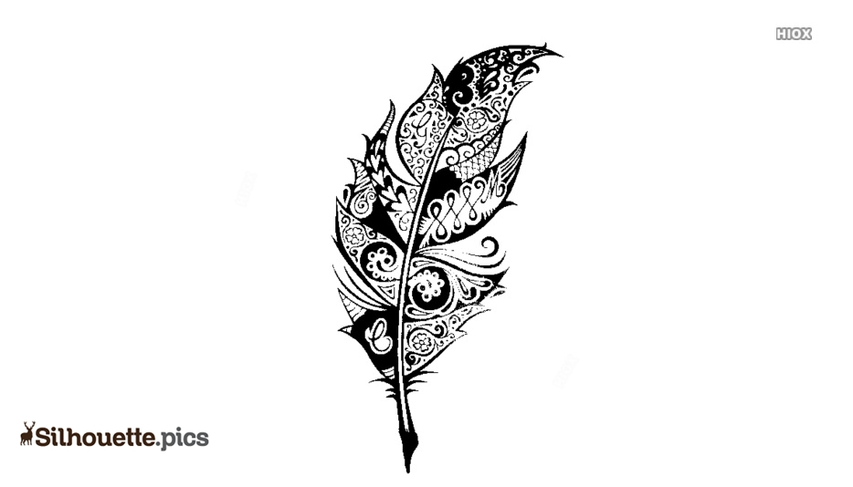 Tribal Feather Tattoo Drawing Logo Silhouette For Download