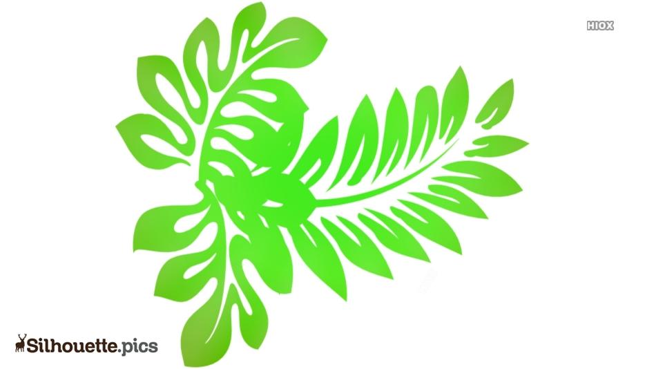 Tropical Leaf Silhouette Clipart