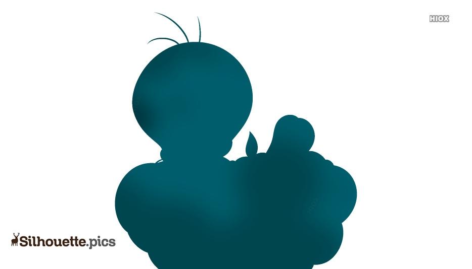 Tweety Bird Silhouette Clip Art, Vector Image