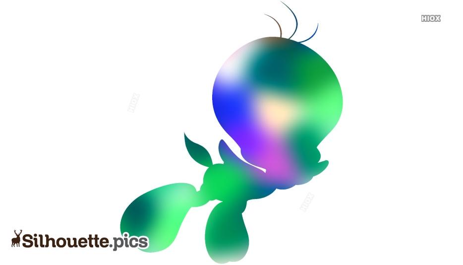 Tweety Bird Silhouette Clipart