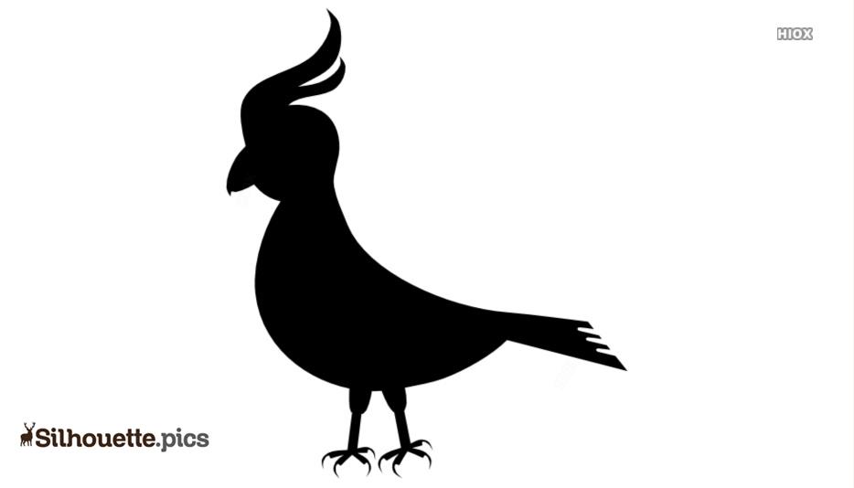 Umbrella Bird Silhouette Clipart Vector Download