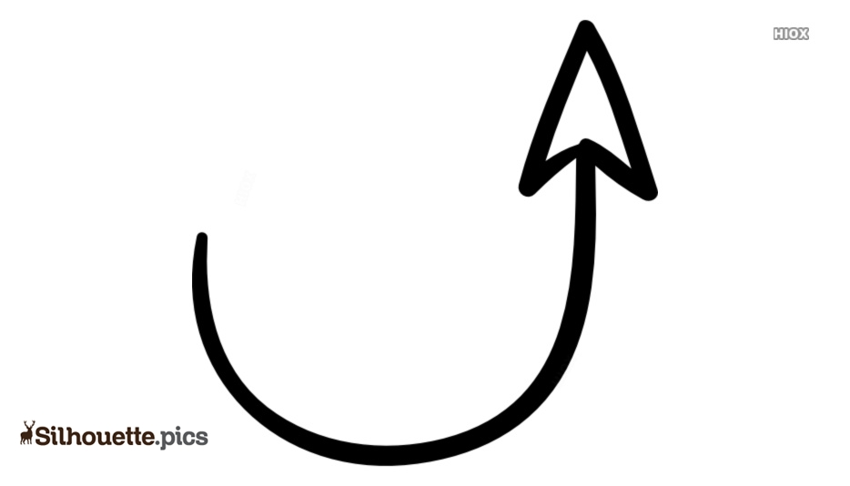 Up Arrow Silhouette Free Vector Art Picture