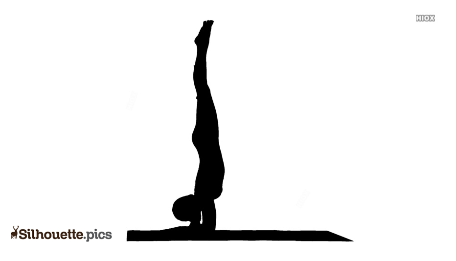 Upside Down Yoga Poses Silhouette At Silhouettepics
