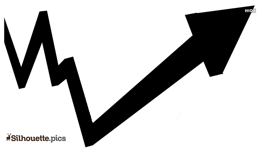 Upward Arrow Silhouette Vector