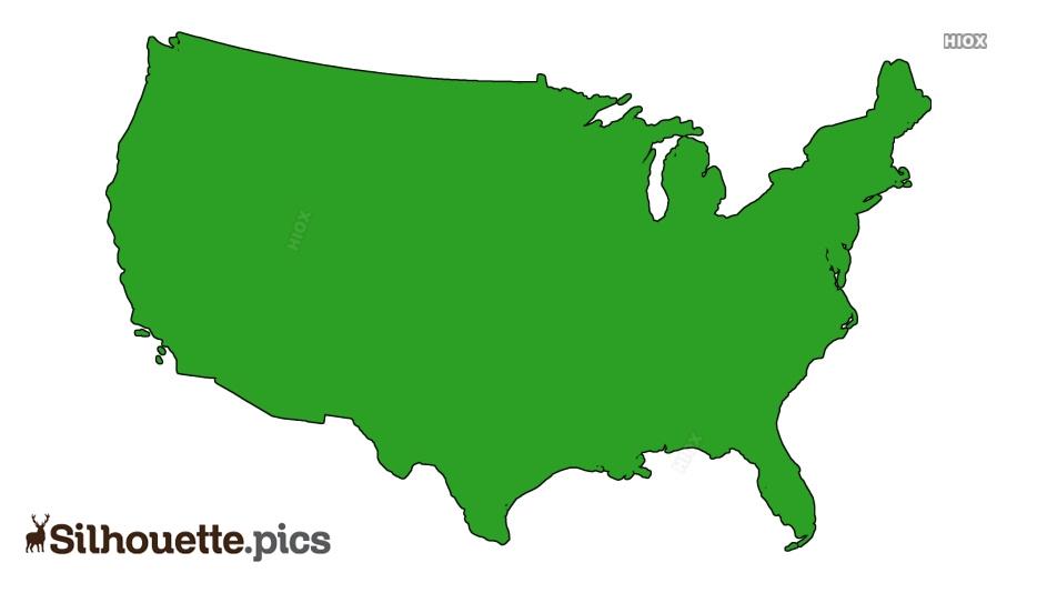 Usa Map Silhouette