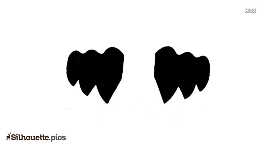 Vampire Teeth Silhouette