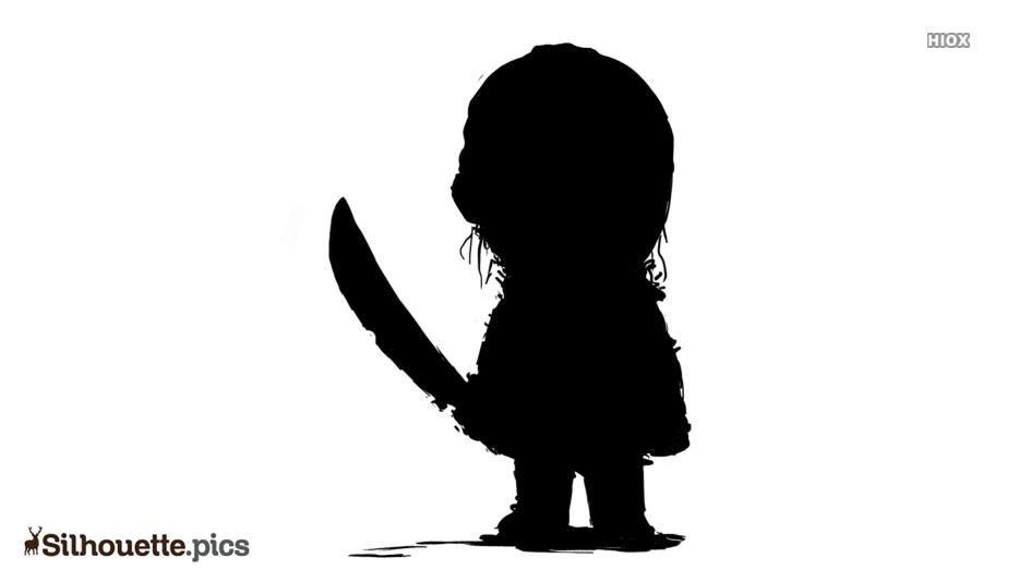 Villains Chibi Silhouette Drawing