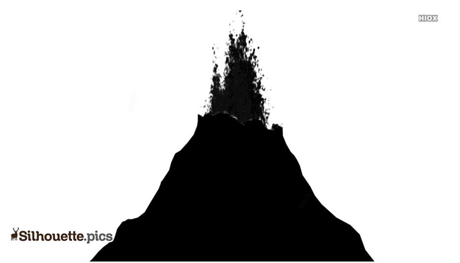 Volcano Erupting Silhouette
