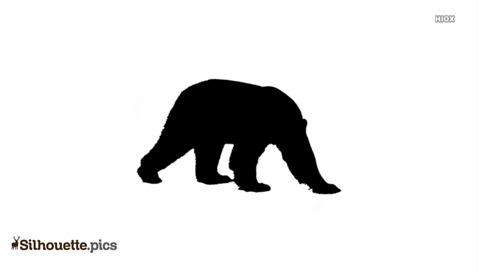 Walking Polar Bear Silhouette For Download