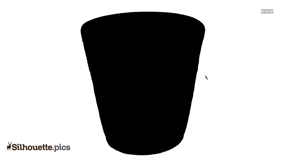 Wastepaper Basket Silhouette