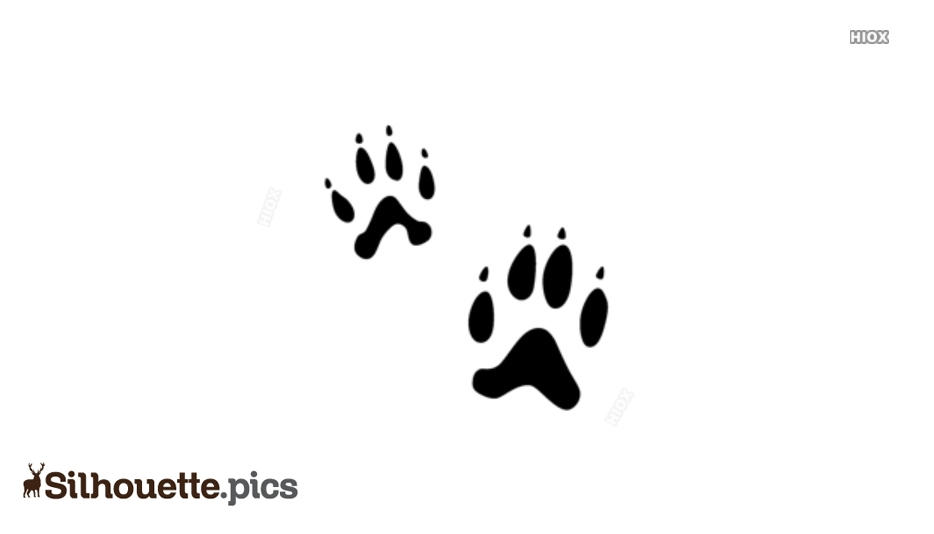 Footprint Silhouette Vector Images, Stock Photos