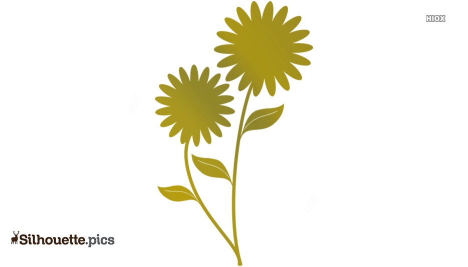 Weird Flowers Silhouette Icon
