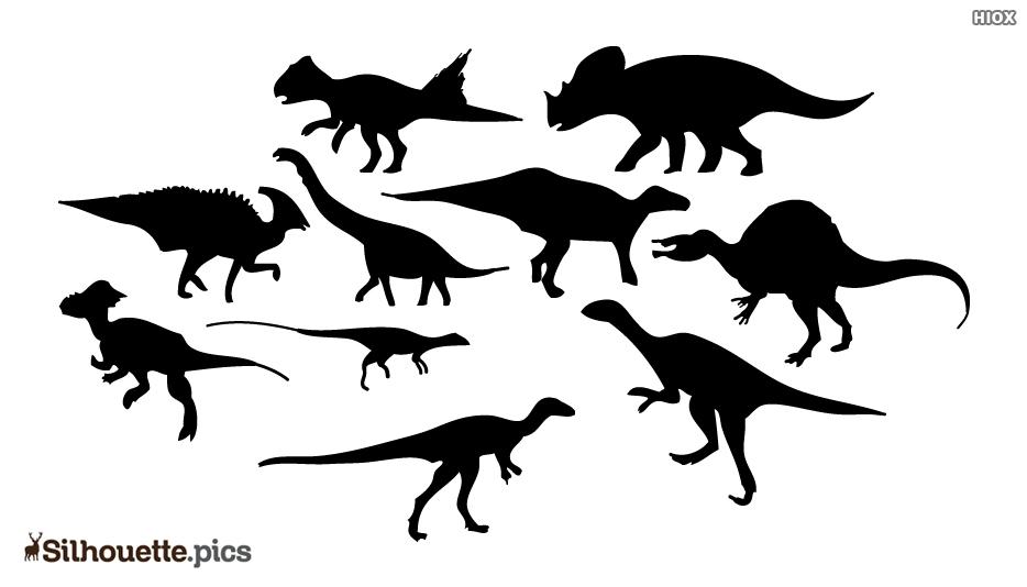 Wild Dinosaur Silhouette