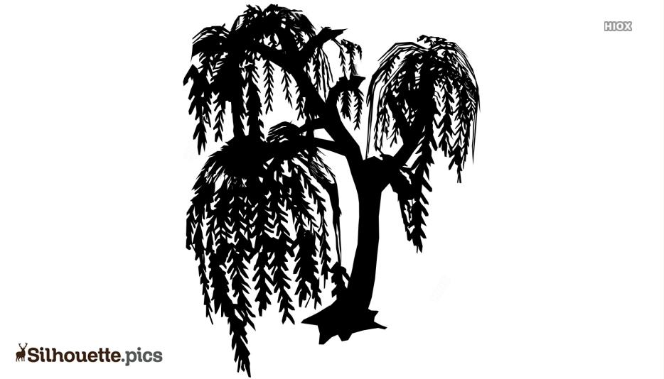 Willow Tree Art Symbol Silhouette