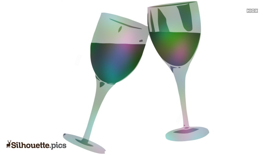 Wine Glass Cheers Silhouette Free Vector Art
