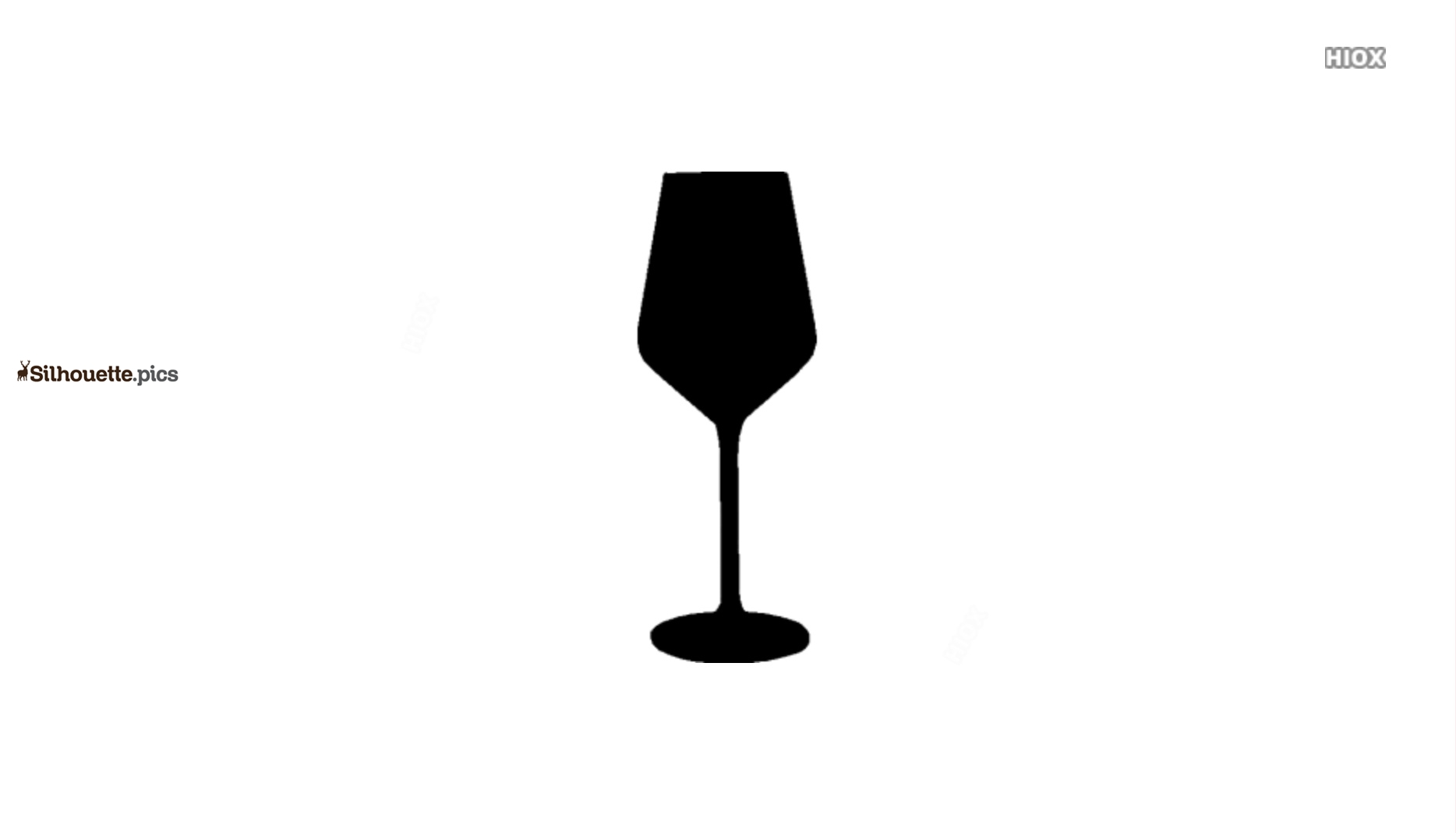 Wine Glass Silhouette Vector And Graphics