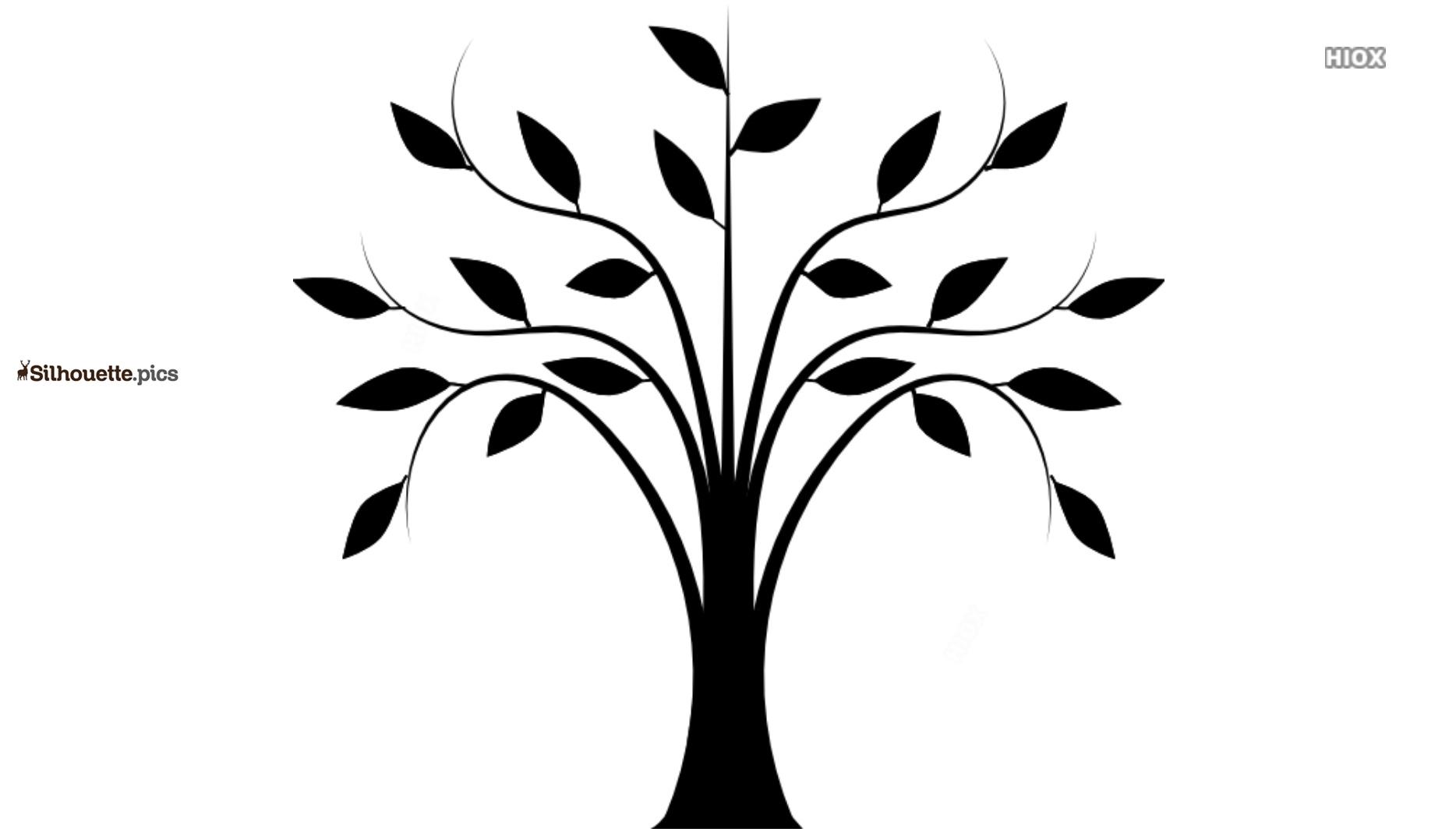 Wispy Tree Silhouette Icon