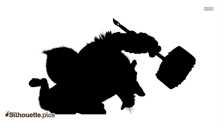 Wolf Boss Action Shot Silhouette