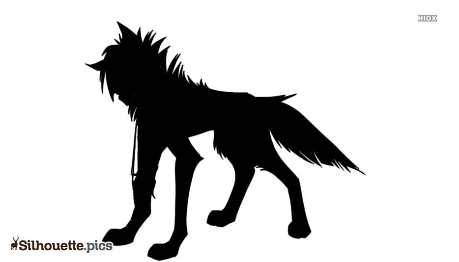 Wolf Cartoon Silhouette Background