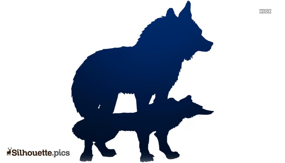 Wolf Cartoon Silhouette Clip Art