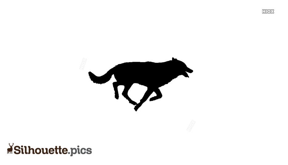 Wolf Pack Running Silhouette