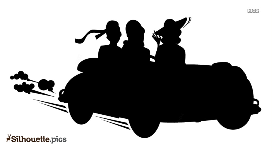 Woman Car Driving Silhouette