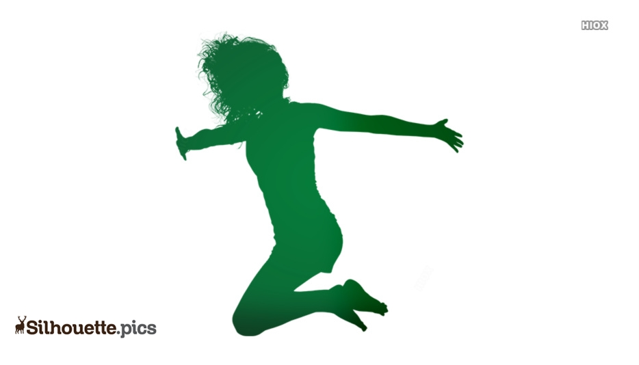 Woman Jumping For Joy Silhouette