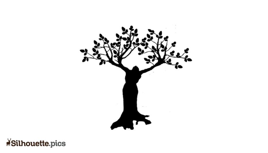 Women Tree Drawing Silhouette Art