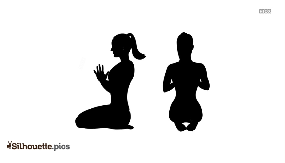 Yoga Poses Silhouette Image Image