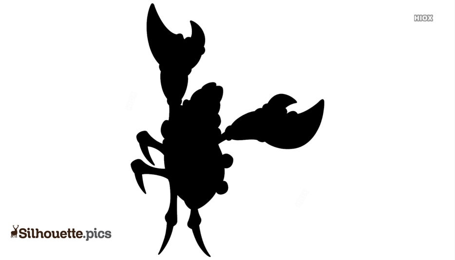 Zombie Lobster Silhouette Image And Vector